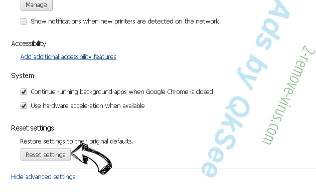 Ads by QkSee Chrome advanced menu