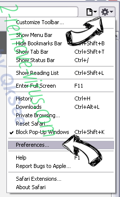 Ads by QkSee Safari menu