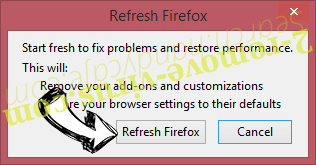 Add-ons Firefox reset confirm
