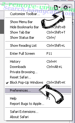 Am-15.net Safari menu