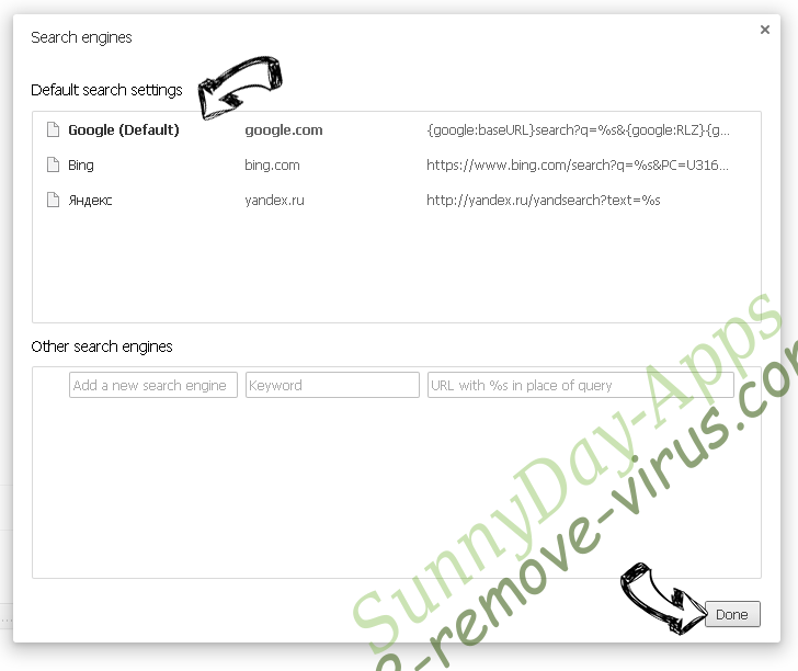 Supprimer SunnyDay-Apps Chrome extensions disable