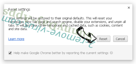 Supprimer SunnyDay-Apps Chrome reset