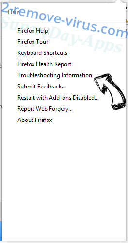 Supprimer SunnyDay-Apps Firefox troubleshooting