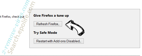 Search.epolife.com Firefox reset