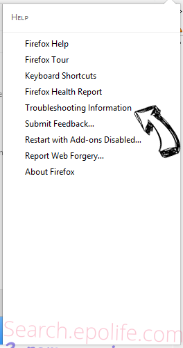 Search.epolife.com Firefox troubleshooting