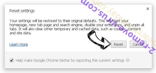 Удаление Search.texiday.com Chrome reset