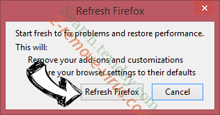Search.texiday.com Firefox reset confirm