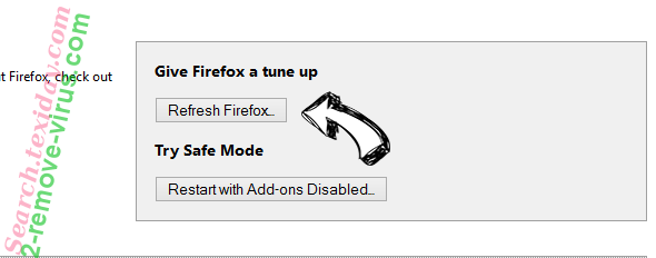 Supprimer Search.texiday.com Firefox reset