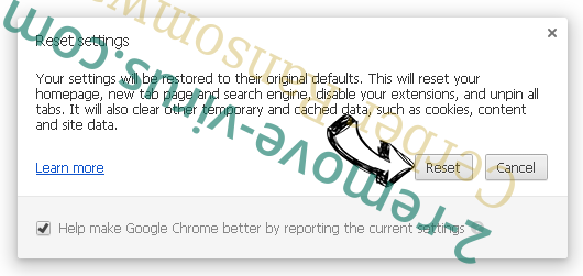 Chromesearch1.info Chrome reset
