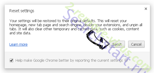 Settingsafari.com Chrome reset