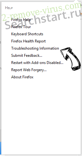 Searchstart.ru Firefox troubleshooting