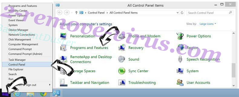 Delete Search.shelfsick.com entfernen from Windows 8