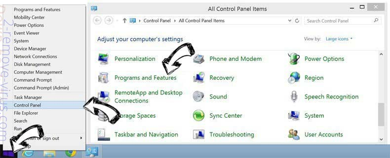Delete One Click PC Cleaner ads from Windows 8