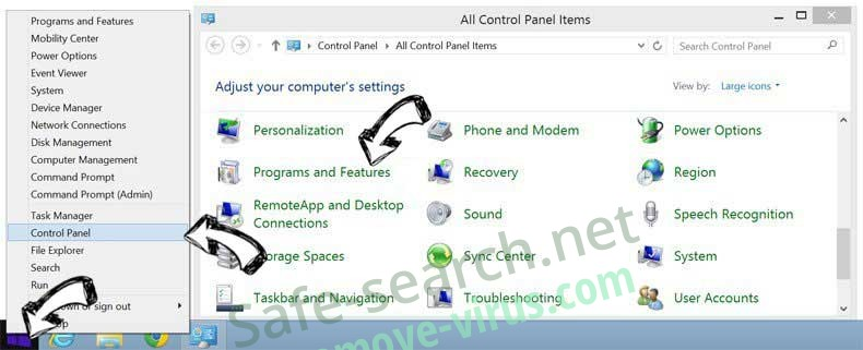 Delete ComboTab.com from Windows 8