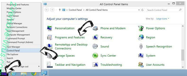 Delete AllInOneDocs Toolbar from Windows 8