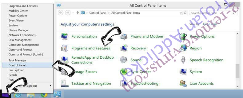 Delete PirvateSearch extension from Windows 8