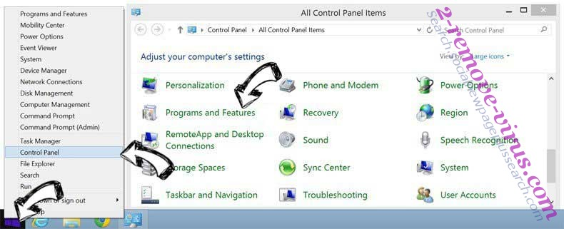 Delete IWinstore Toolbar from Windows 8