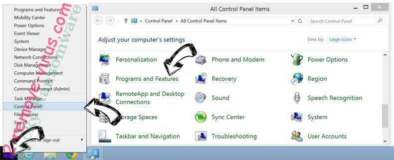 Delete FreeCodecPack from Windows 8