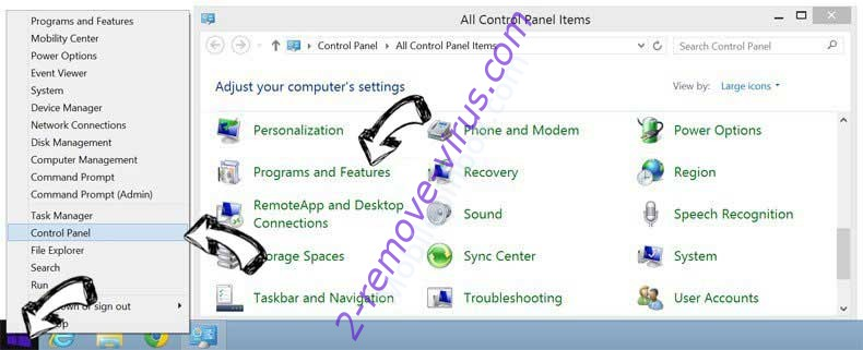 Delete R5A File Extension Virus from Windows 8
