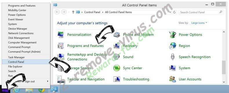 Delete Setup Wizard Virus from Windows 8