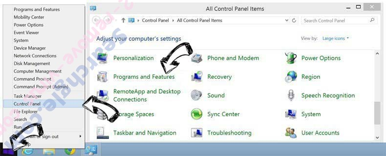 Delete Ooo.versetugging.com from Windows 8