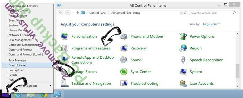 Delete PC Backup 360 from Windows 8