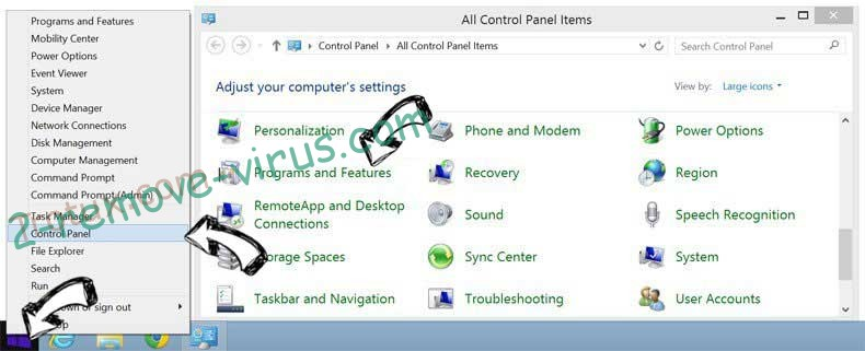 Delete Myquickconverter.com from Windows 8