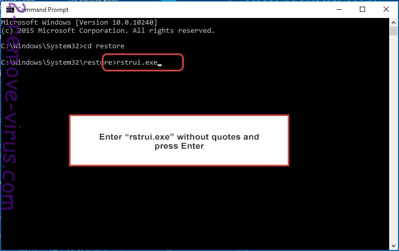 Delete LambdaLocker - command prompt restore execute