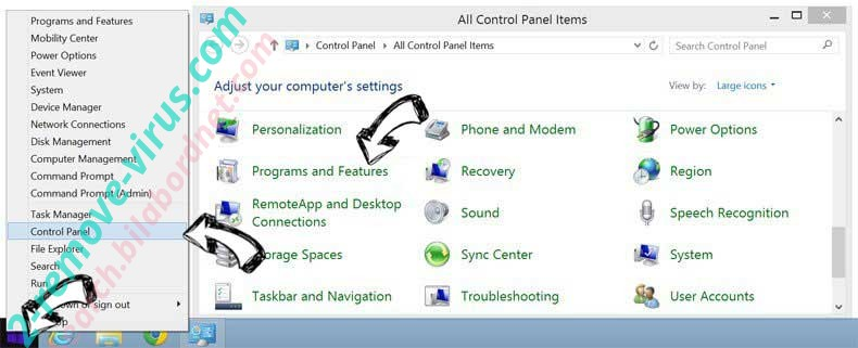 Delete Ext.gomusix.com from Windows 8