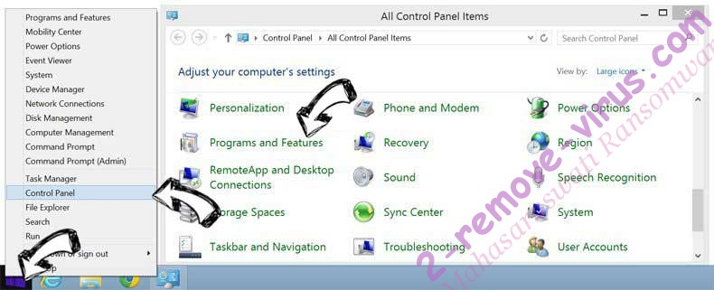 Delete Instant Inbox adware from Windows 8