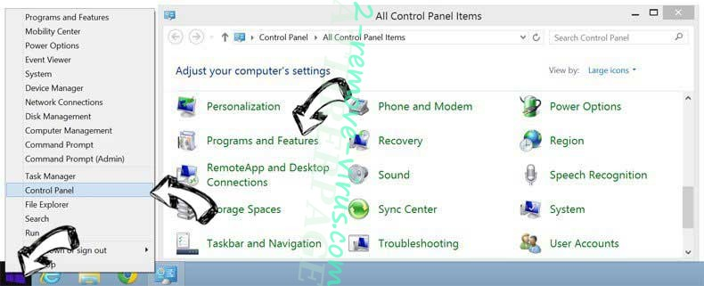 Delete Myway Hijacker from Windows 8
