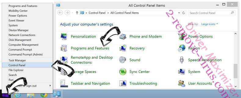 Delete Driver Maximizer from Windows 8