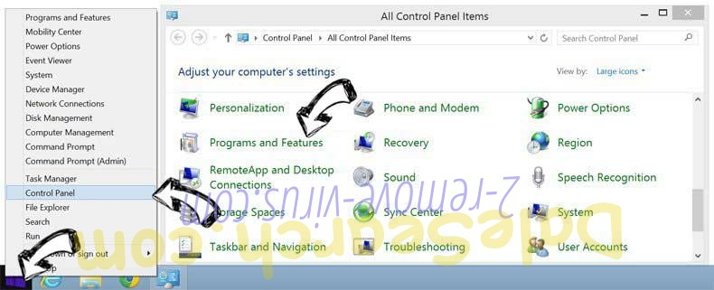Delete MySportTab Toolbar from Windows 8
