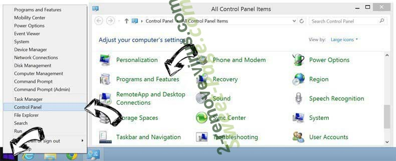 Delete DNS Unlocker from Windows 8