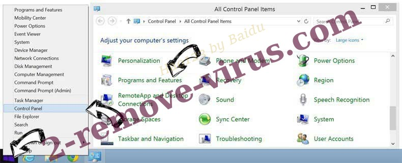 Delete FileShareFanatic Toolbar from Windows 8