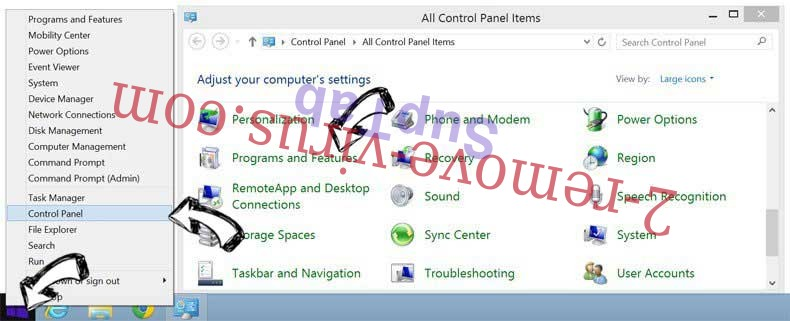 Delete Startgo123.com Virus from Windows 8