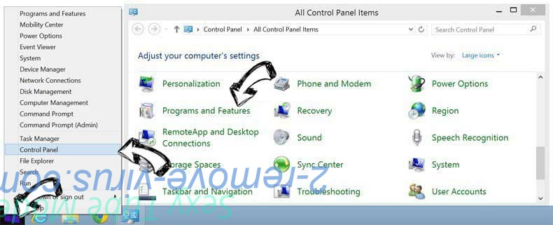 Delete start.dealrecovery.com from Windows 8