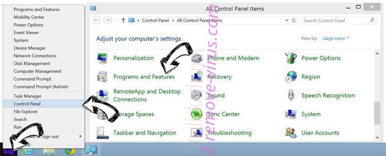 Delete Email Enhanced Redirect from Windows 8