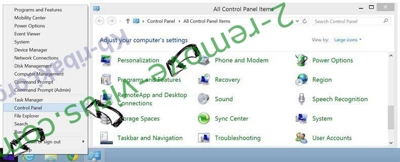 Delete Mystart.space from Windows 8