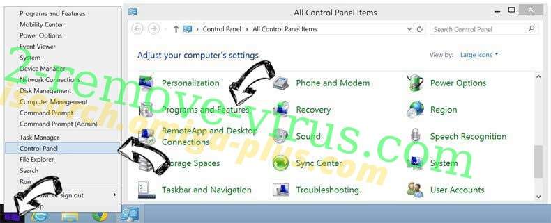 Delete Eliminar isearch.omiga-plus.com from Windows 8