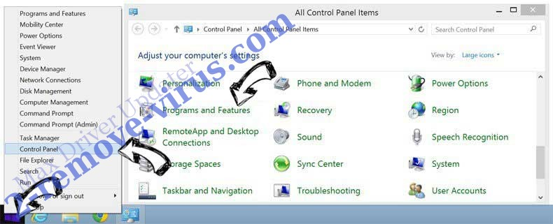 Delete Max Driver Updater from Windows 8