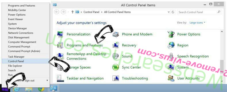 Delete YourLocalLotto Toolbar from Windows 8