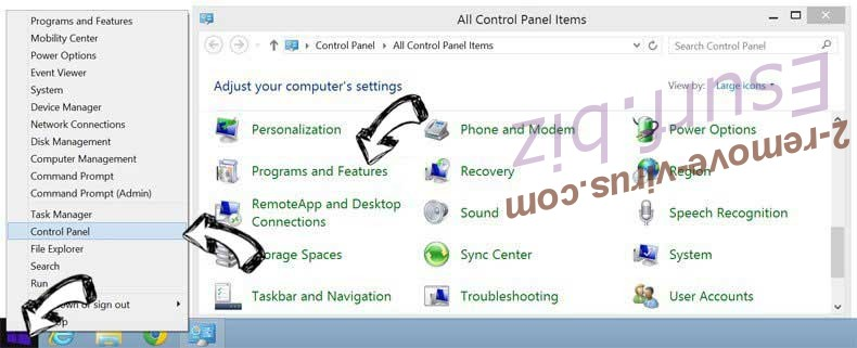 Delete TextToTalk Adware from Windows 8