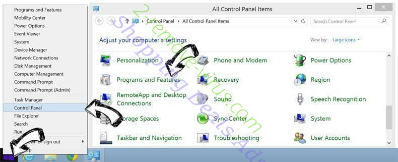 Delete 877-836-0562 Pop-Ups from Windows 8