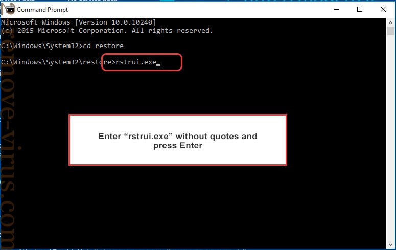 Delete help_you@india.com - command prompt restore execute