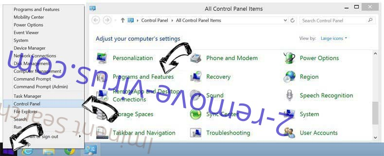 Delete Palikan Search from Windows 8