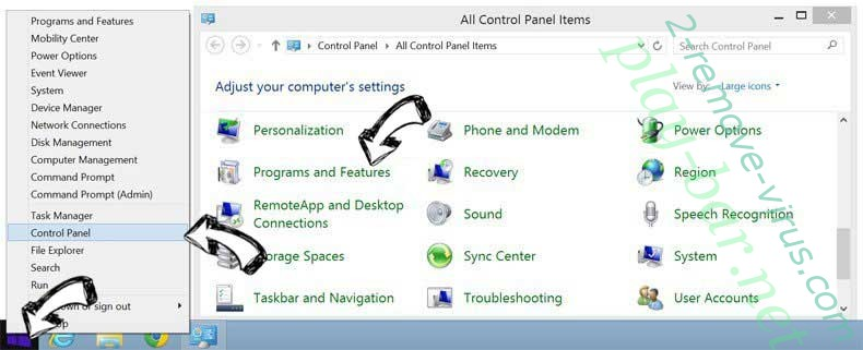 Delete Eliminar Surfvox.com from Windows 8