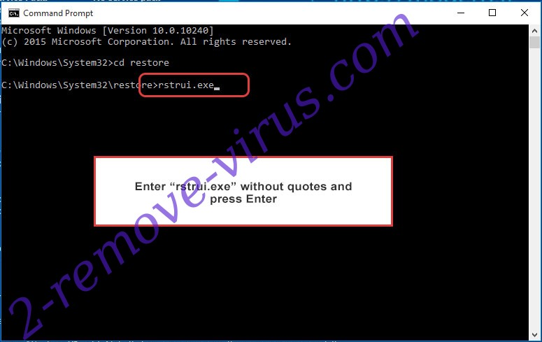 Delete Rapid RaaS - command prompt restore execute