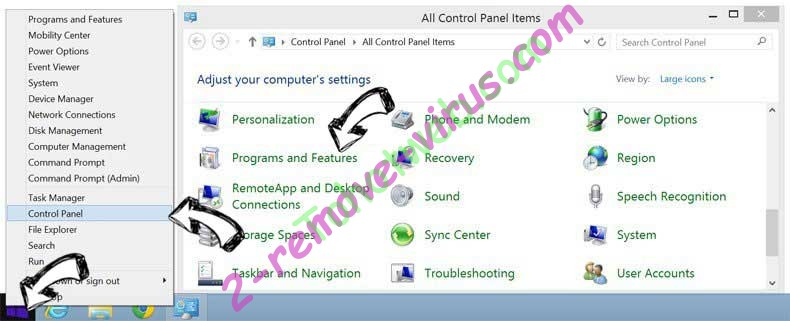 Delete FreeShoppingTool Virus from Windows 8