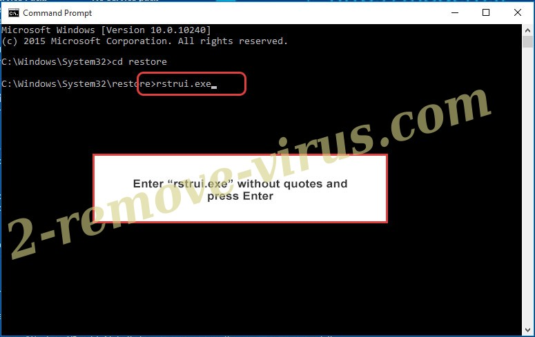 Delete Cerber virus - command prompt restore execute
